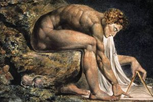 Isaac Newton geschilderd door William Blake